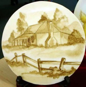 Hand-painted plaques