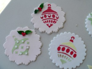 Christmas plaques and stencilling