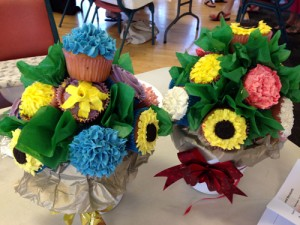 Cupcake blooms and bouquest