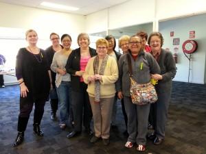 Sydney Branch President with branch members