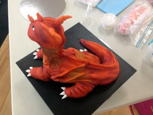 Dragon from modelling chocolate