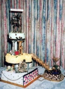 Bride from hell's wedding cake