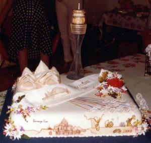 1984 Inaugural seminar cake